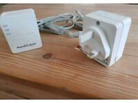 Netgear Powerline Av500 Pair. Ethernet over powerline rated up 500mbps. Incl 2 Ethernet cables