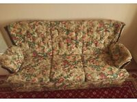 Floral Pattern 3-seater sofa