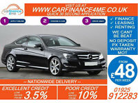 2012 MERCEDES C220 CDI AMG SPORT GOOD / BAD CREDIT CAR FINANCE FROM 48 P/WK
