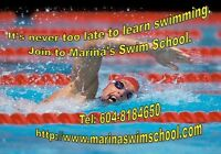 Learn to swim in short terms