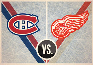 Two excellent tickets Montreal Canadiens Detroit Red Wings 03-21