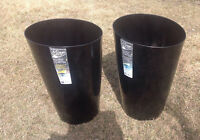 2 BRAND NEW FLOWER POTS $65 for the set