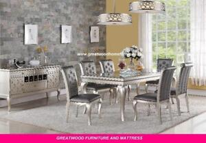 CONTEMPORARY STYLE 7 PIECE DINING SET...$1299 ONLY