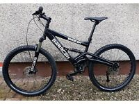 BLACK SARACEN FULL SUSPENSION BIKE - FRONT AND REAR DISCS - 24 GEARS