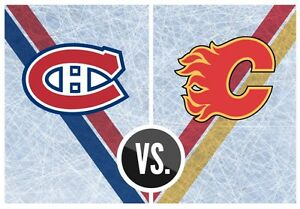 4 billet canadiens vs Calgary, Jan 24 section 108, rouge