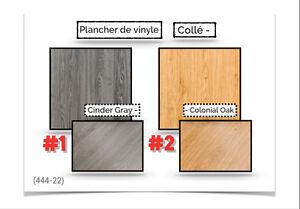 """(444-22)  LIQUIDATION.. PLANCHERS EN """"VINYLES~COLLÉ""""  1.49$ /P.C"""