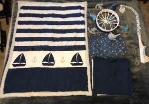 EUC Nautical Crib Bedding