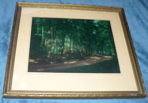 "Vintage "" Muskoka Road"" Water Color Painting-Framed W.J. Stone"