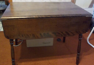Double Drop Leaf Table Solid Wood Construction Kawartha Lakes Peterborough Area image 1