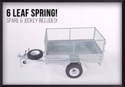 Autumn SALE! Welded 7x4 Gal Trailer with REGO & Everything