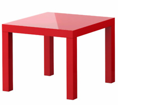 Ikea Red Side Table (OUT OF PRODUCTION) (RARE)