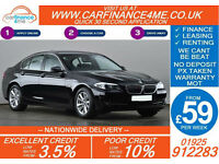 2012 BMW 520 D 2.0 TD SE GOOD / BAD CREDIT CAR FINANCE FROM 59 P/WK