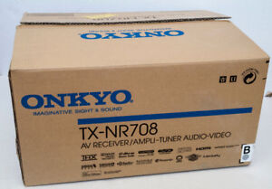 Onkyo TX-NR708 Home theater receiver with 3D-ready HDMI,Internet