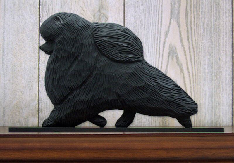 Pomeranian Sign Plaque Wall Decor Black