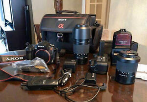 Camera Sony a350 + accessoires