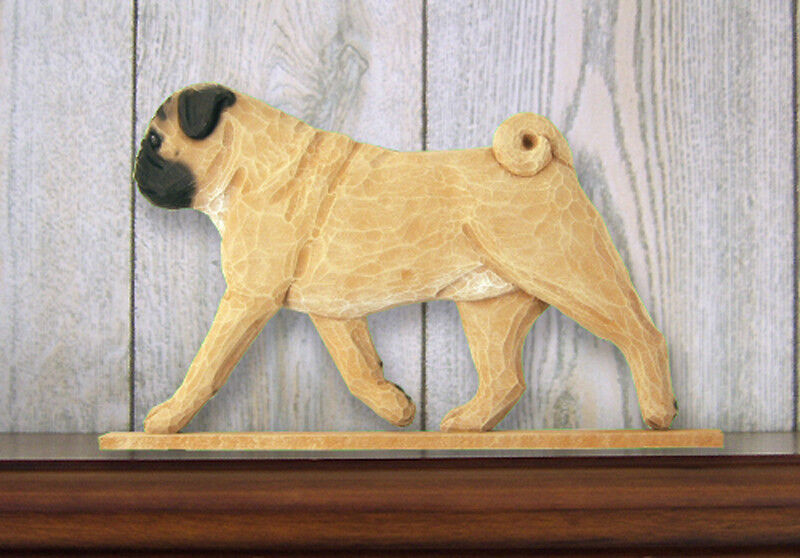 Pug Sign Plaque Wall Decor Fawn