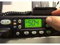Motorola GM350 VHF Tranceiver & Matching 8A PSU