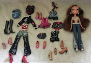 10 different Bratz Dolls with outfits and accessories.$8.00each