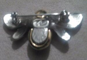 Liz Claiborne Silver / Gold Tone Black Enamel Bumble Bee Brooch North Shore Greater Vancouver Area image 6