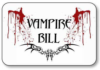 True Blood Vampire Halloween Costumes (VAMPIRE BILL TRUE BLOOD  NAME BADGE PROP COSPLAY HALLOWEEN COSTUME PIN)