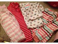 Bundle of girls pyjamas & onesies