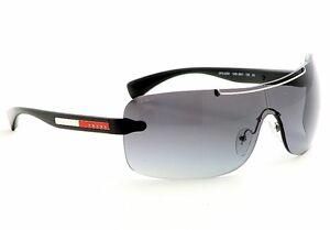 HOT NEW Genuine PRADA Sport Designer Black Shield Men Sunglasses SPS 02M 1AB 3M1