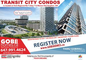 TRANSIT CITY Condos in Vaughan, ON | www.GOBIHOMES.ca