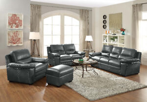 """""""BROOKS"""" Sofa and Loveseat, avail. In Black and Grey! @ Yvonne's"""