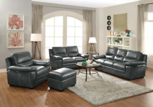 """BROOKS"" Sofa and Loveseat, avail. In Black and Grey! @ Yvonne's"