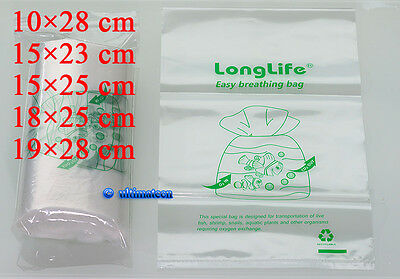100 Pcs   Longlife Aquarium Breathing Bags  Kordon Breather Substitute