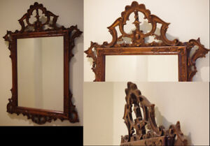 """HANDCARVED in ITALY Antique Mirror 41 x 27"""""""