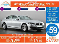 2012 BMW 520D 2.0TD GOOD / BAD CREDIT CAR FINANCE FROM 59 P/WK