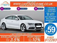 2012 AUDI A5 2.0 TDI SE TECHNICK GOOD / BAD CREDIT CAR FINANCE FROM 59 P/WK