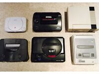 WANTED: RETRO GAMES & CONSOLES: SEGA (MEGA DRIVE, SATURN, DC), NINTENDO (64, SNES, NES), PS1, PS2