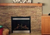 Gas Fireplace Napoleon with remote
