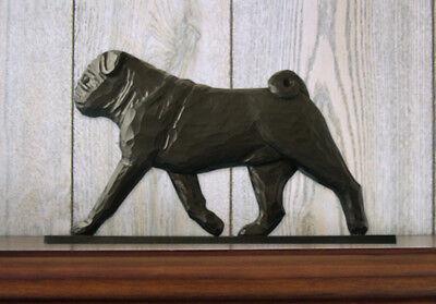Pug Sign Plaque Wall Decor Black](Pug Decor)