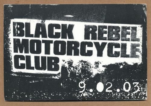 Black Rebel Motorcycle Club Take Them On, On Your Own RARE promo postcard