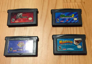 Four GameBoy Advance Game Cartridges
