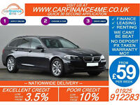 2013 BMW 520D 2.0TD SE TOURING GOOD / BAD CREDIT CAR FINANCE FROM 59 P/WK