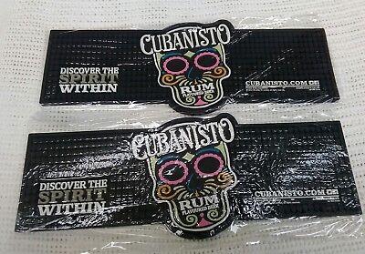 2x Cubanisto Rubber Bar Runner Rum flavoured beer new