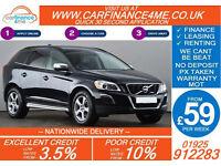 2012 VOLVO XC60 2.4D R DESIGN GOOD / BAD CREDIT CAR FINANCE FROM 59 P/WK