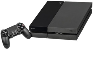 Ps4 500 GB with blue controller and free game