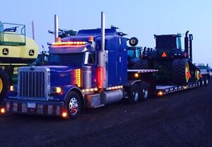Kir-Ash Contracting ltd. Hauling farm Equipment in BC,AB,SASK