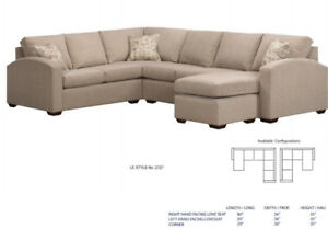 CANADIAN MADE SOFAS SECTIONALS TONS OF FABRICS AND DESIGNS!
