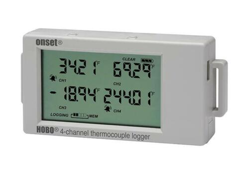 Onset HOBO UX120-014M 4-Channel Thermocouple Data Logger w/ LCD Display