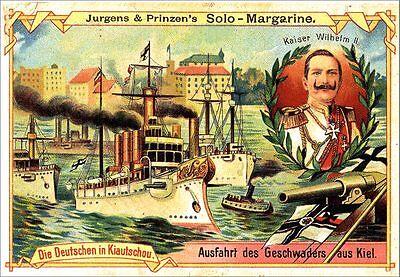 KAISER WILHELM II. Jurgens & Prinzens Solo Margarine MARINE DEUTSCHES REICH 72