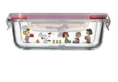 [SNOOPY PEANUTS x PYREX]  Rectangle closed container 630 ml / 17X12.5X4.5cm