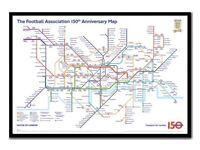 FA 150 YEAR ANNIVERSARY TUBE MAP POSTER
