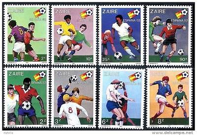 ZAIRE 1982 WORLD CUP FOOTBALL / SOCCER complete SET MNH (3ALL)