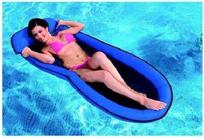Wasser-lounge (Lounge Mesh Netzmatratze Luftmatratze Pool Wasserliege 178 x 94 INTEX 58836 blau)